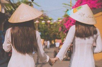 ベトナム民族衣装アオザイ❗️